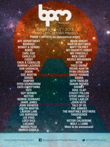 The BPM Festival 2013 Line Up (Phase1)