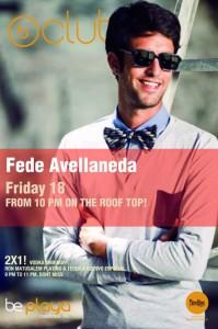 Fede Avellaneda @ Be Club - Be Playa