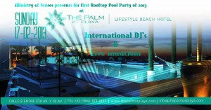 Ministry of Senses - Rooftop Pool Party @ The Palm at Playa Hotel